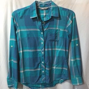 The North Face Women's Blue Casual Shirt Sz Small